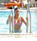 Sophie Anderton | Bikini Candids poolside in Turkey | December 26 | 8 pics