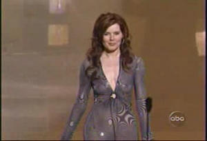 Geena Davis - Emmy Awards (see-through dress)
