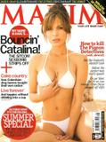 Nadine Velazquez, Catalina from My Name Is Earl, show off her body in lingerie  in Maxim Magazine