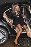 Naomi Campbell | Arriving @ Swarovski Fashionation in Milan | June 7 | 13 leggy pics